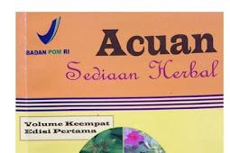 Ebook Acuan Sediaan Herbal Vol. 4 Edisi Pertama PDF