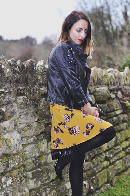 how to style mustard, how to style leather jackets, fashion trends 2017, trends 2017, how to style dresses, floral wrap dress