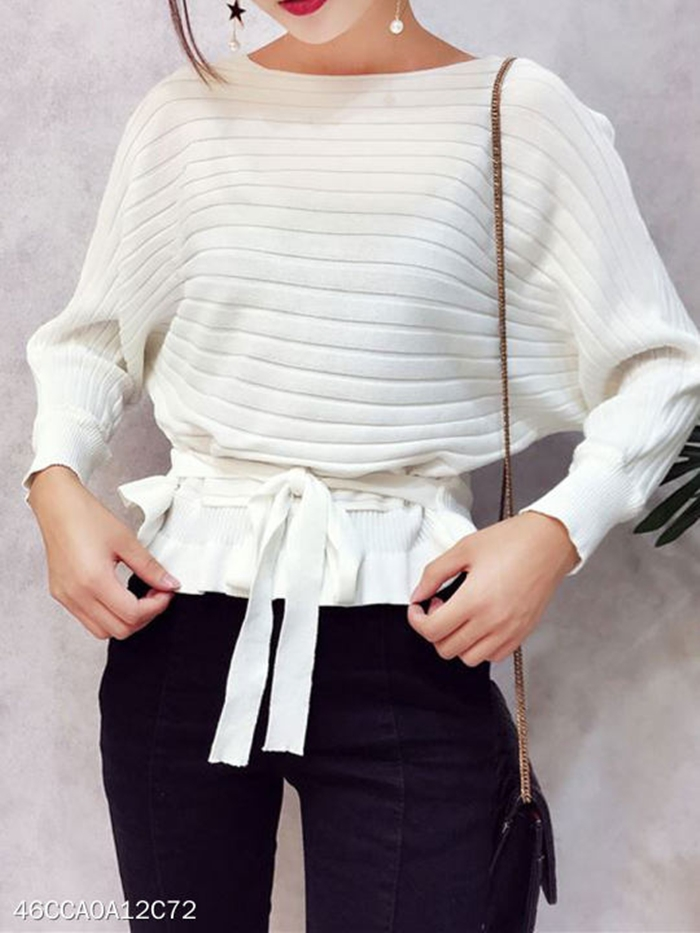 https://www.fashionme.com/en/Products/round-neck-lace-up-striped-batwing-sleeve-sweatshirts-206588.html?color=white