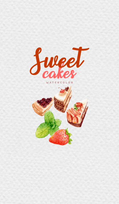 Sweet Cake by watercolor
