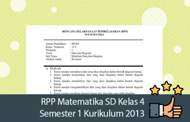 RPP Matematika SD Kelas 4 Semester 1 Kurikulum 2013