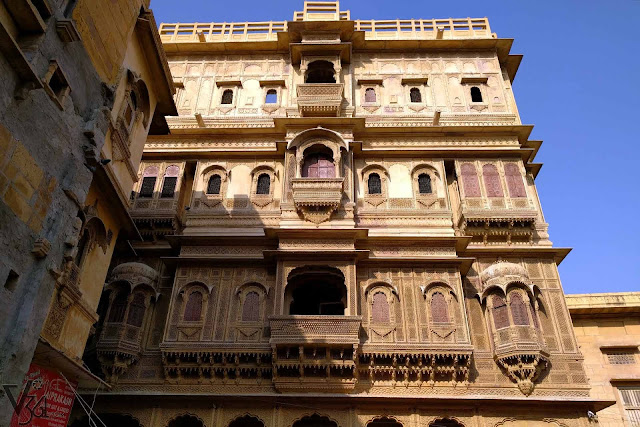 Facades of last of the Patwa Havelis