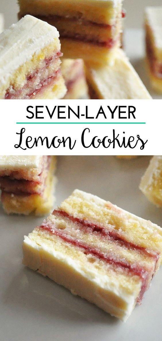 Lemon Seven-Layer Cookies