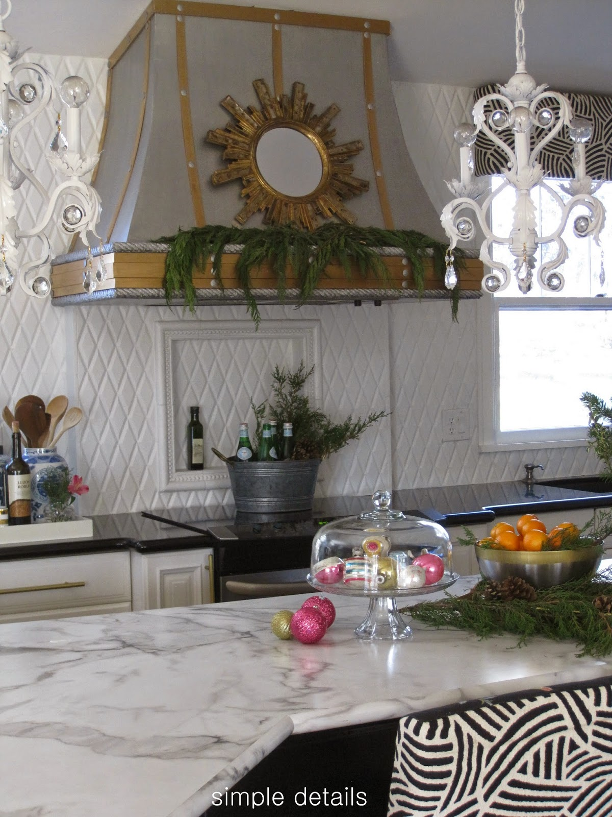pink countertops kitchen reclaim paint cabinets simple details: christmas 2014 ~ home tour