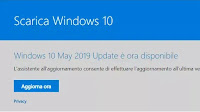 Scaricare aggiornamento Windows 10 1903 da Media Creation Tool o Windows Update