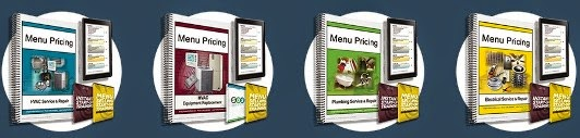 Menu pricing information