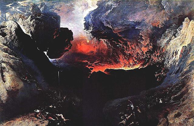 a painting by John Martin of Armageddon
