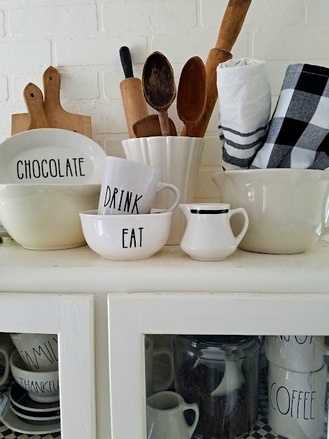 Rae Dunn pottery decal