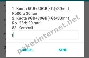 Paket Internet 3 Tri
