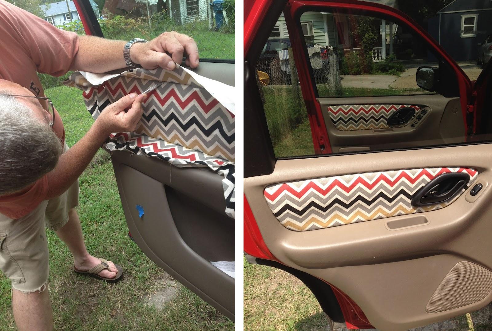 Grosgrain Custom Fabric Car Door Panels How To