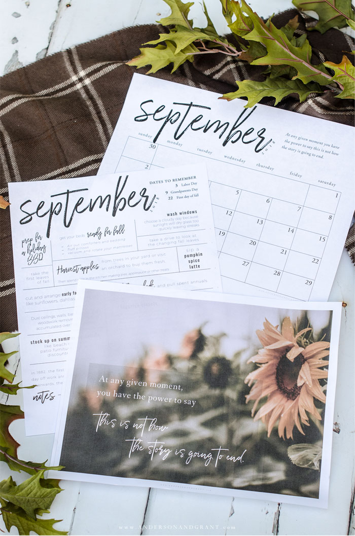Printables for September