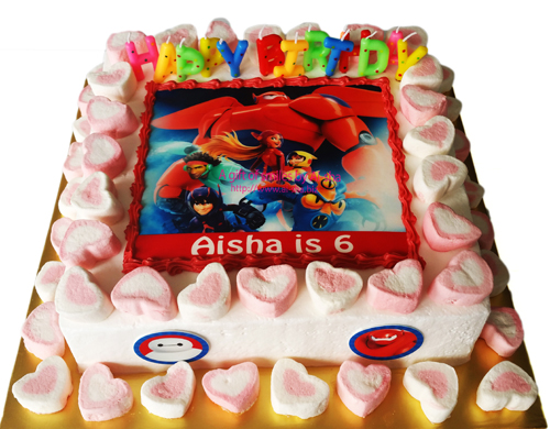 Birthday Cake Edible Image Big hero