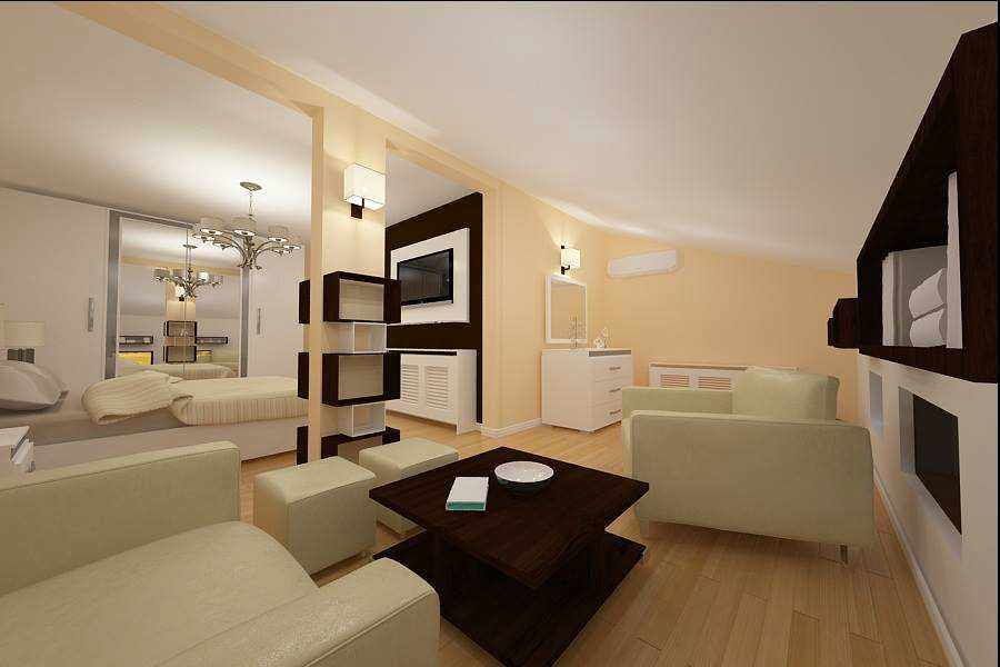 Design - interior - dormitor - mansarda - casa - Constanta
