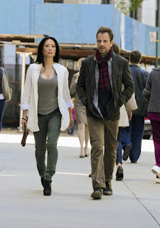 Jonny Lee Miller and Lucy Liu as Sherlock Holmes and Joan Watson in Elementary Episode # 2