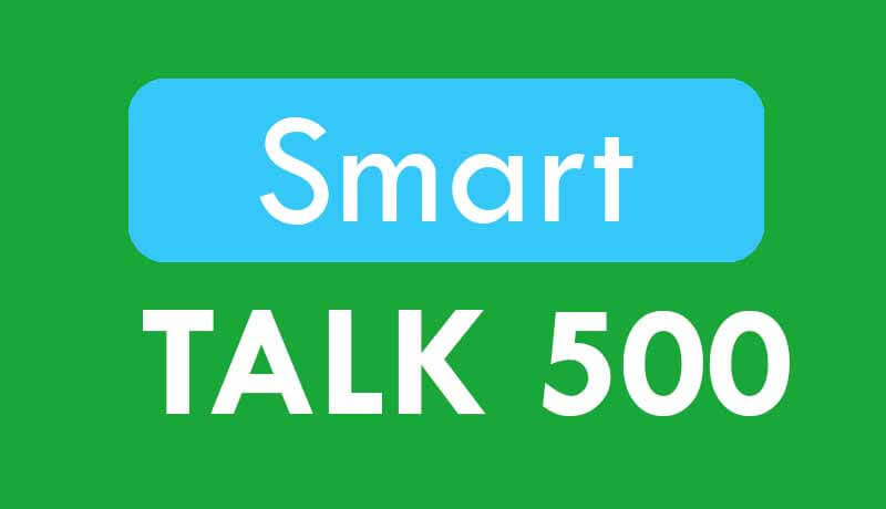 Smart offers TALK 500 – Unlimited Call Promo for 30 Days or 1 Month