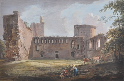 Photograph of picture: Title: Bothwell Castle, Lanarkshire. Artist: Paul Sandby (1731-1809) Image copyright of the Hamilton Gallery reproduced here with permission