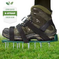Punchau Lawn Aerator Footwear Metal Buckles and Straps