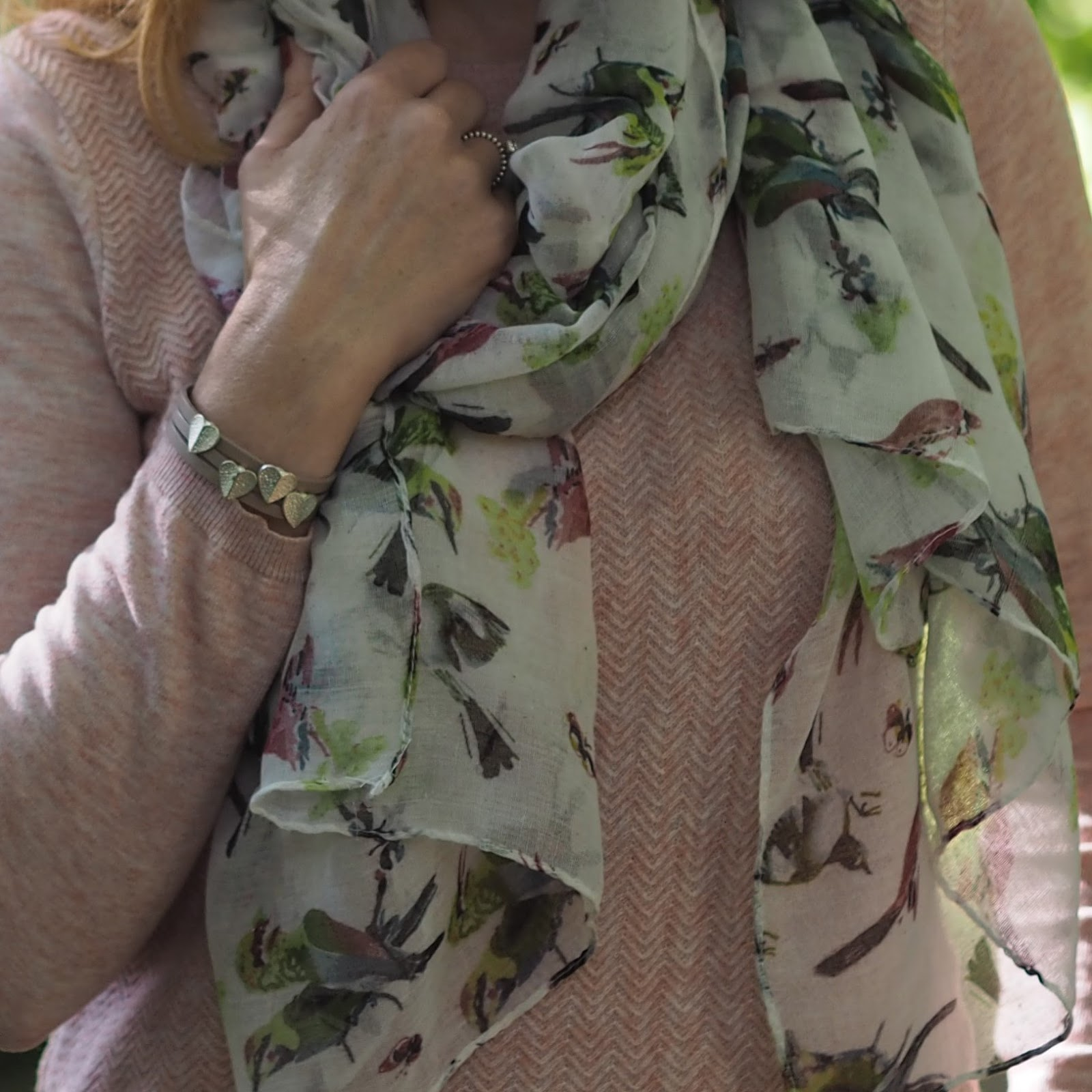 Birds of paradise scarf from www.lizzyo.co.uk