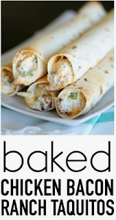 Chicken Bacon Ranch Taquitos