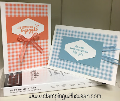 Stampin' Up!, Part of My Story, www.stampingwithsusan.com, Gingham Gala, Tailored Tag