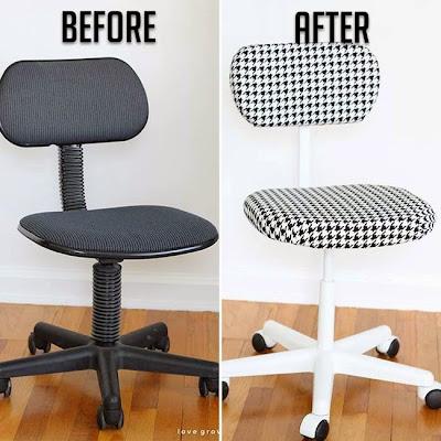 silla renovada con un tapiz mas vivo