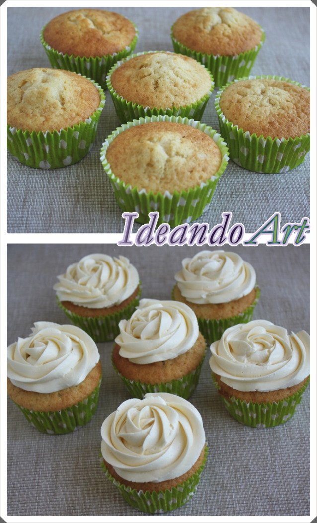 Decoración cupcakes de kiwi