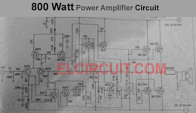Mono 800w Power Amplifier Circuit scheme