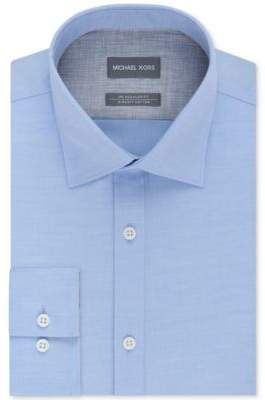 Men's Classic/Regular Fit Non-Iron Airsoft Stretch Performance Solid Dress Shirt