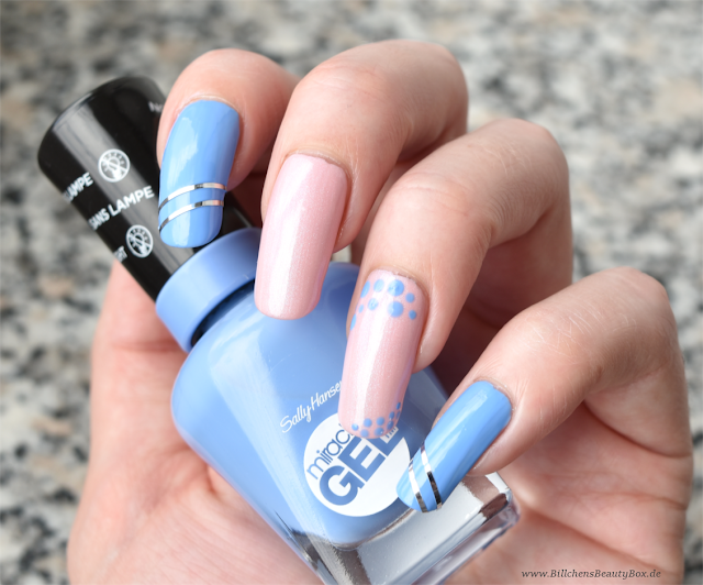 Rose Quartz und Serenity Nail Art