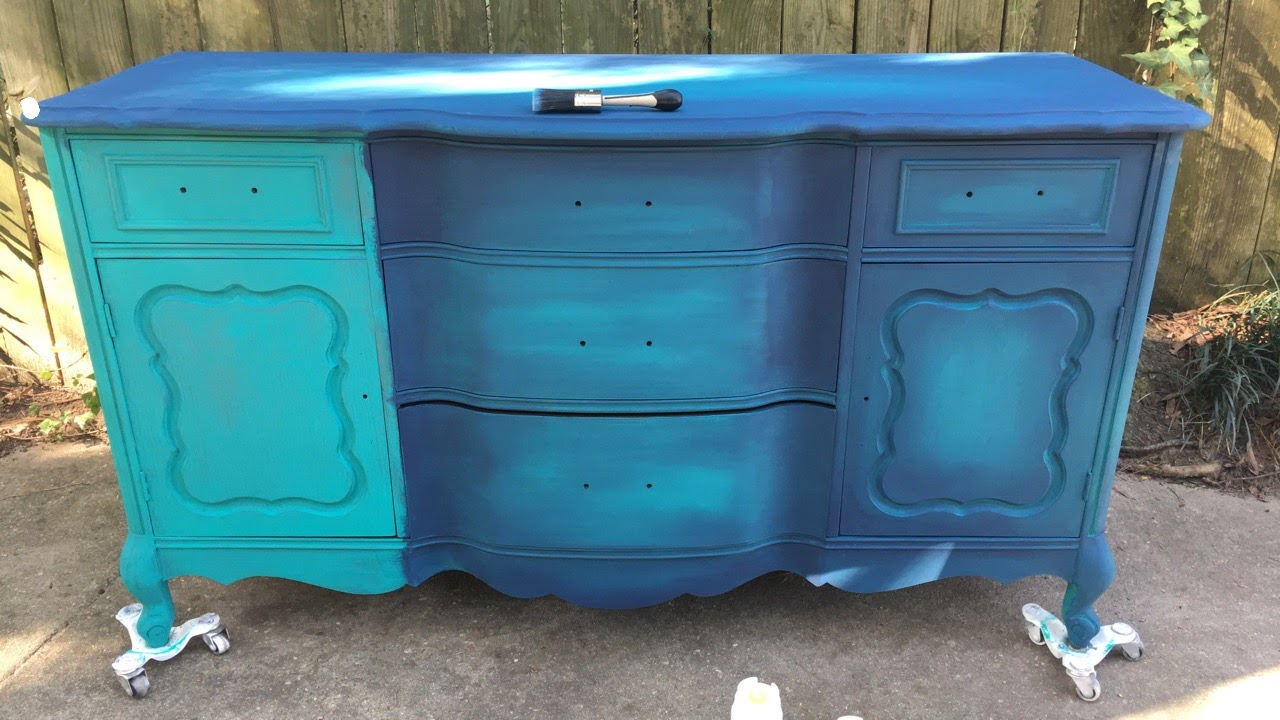 blue painted furniture your blended paint inspiration that sweet
