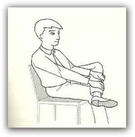 perna cruzada