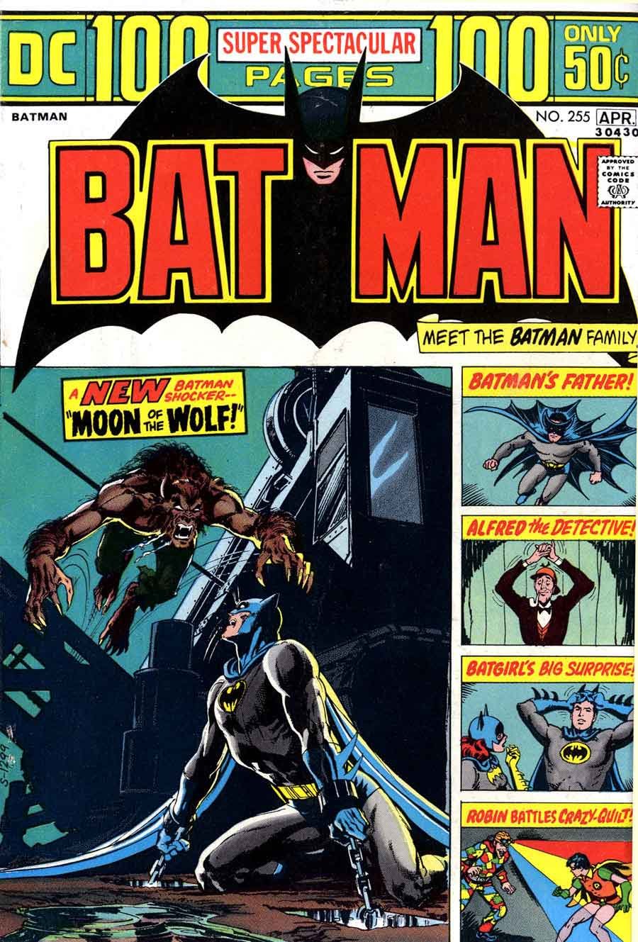 Batman v1 #255 dc comic book cover art by Neal Adams
