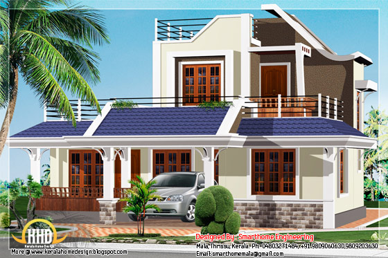 1600 square feet,3 BHK house elevation