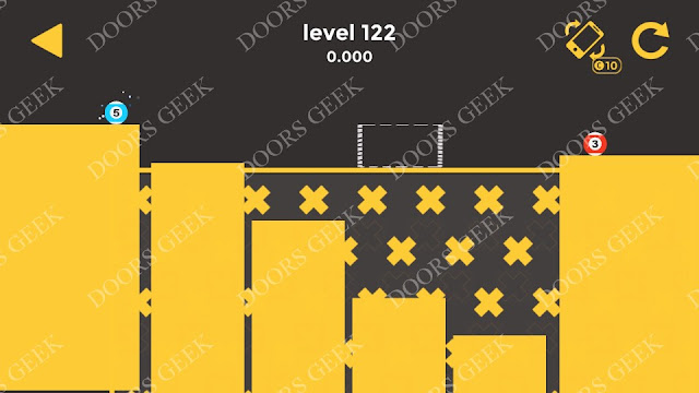 Ball & Ball Level 122 Solution, Walkthrough, Cheats for android and ios