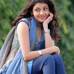 Cute Kajal Agarwal In Blue Dress Pics