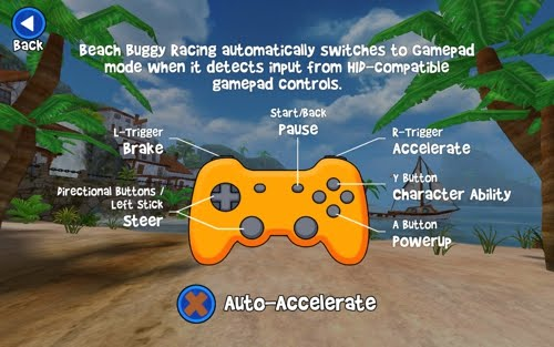 Beach Buggy Racing gamepad setting