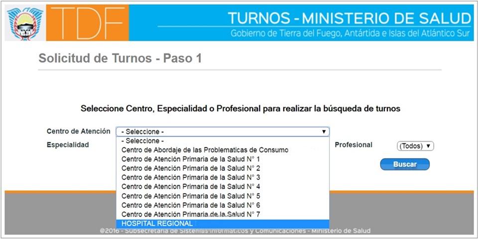 Centros de Salud con turnos via web