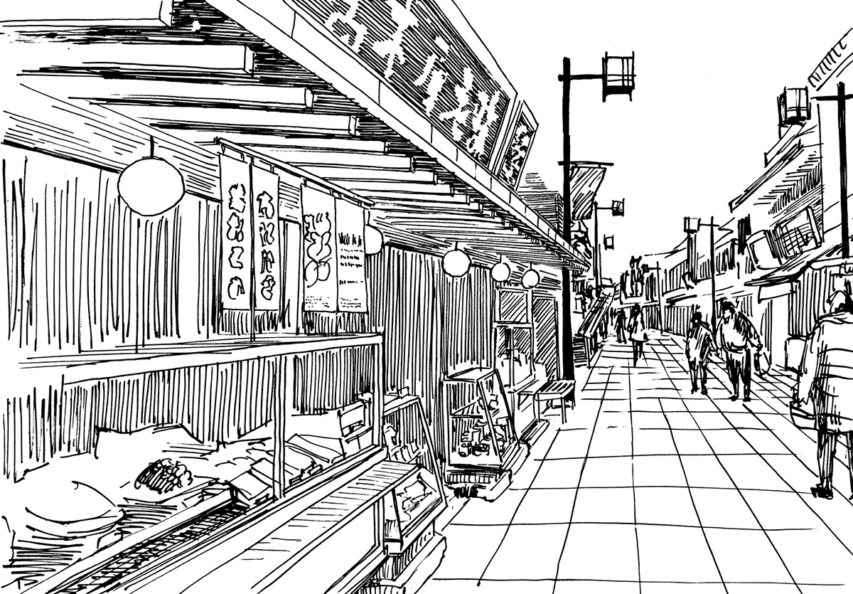12-Evgenii-Sarychev-Japanese-Urban-Sketch-Drawings-www-designstack-co