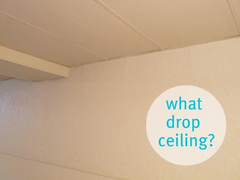 drop ceiling paint ideas - Basement Update How to Paint Drop Ceilings You Cannot