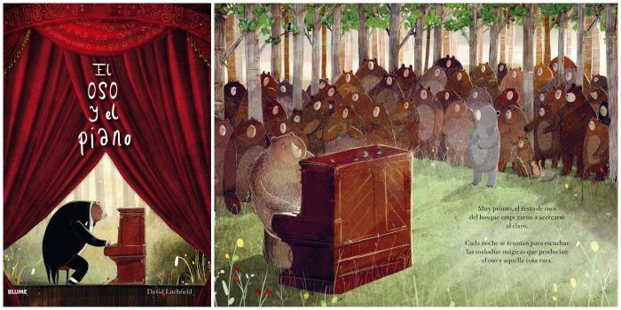 mejores cuentos niños 5 a 8 años, el oso y el piano