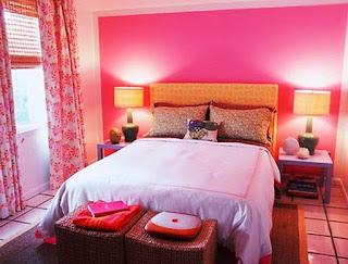Desain Kamar Tidur Anak Perempuan Cantik Cat Warna Pink