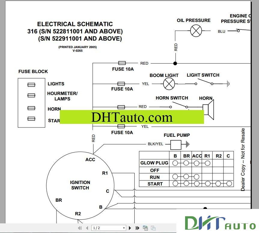 Bobcat E50 Engine Key Switch Wiring Diagram - suntee.co