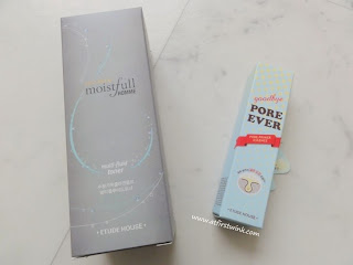 Etude House Collagen Moistfull Homme 3 in 1 multi-fluid toner and the Pore Ever Pore Primer Essence