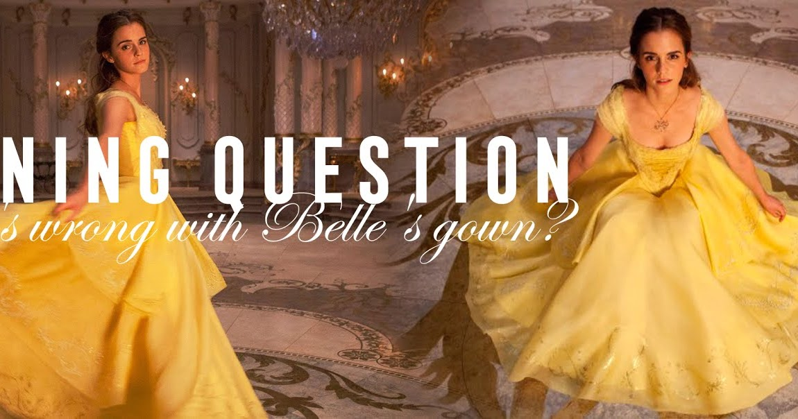 Beauty and the Beast Movie Ball Gown Belle dress Emma Watson 2017 NEW V01