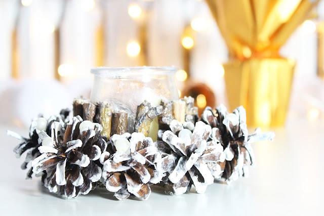 jak zrobić świąteczny świecznik