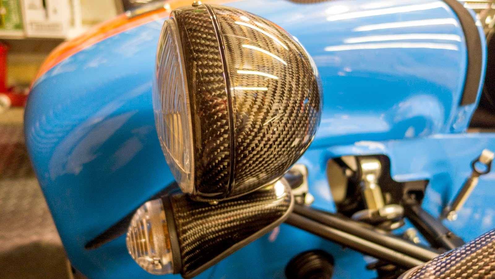 Westermann Motorsport Carbon Fibre Headlights on Caterham R500