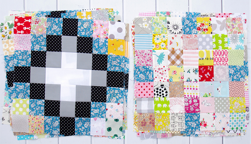 Memoire A Paris - Irish Chain Quilt - Blocks in progress | Red Pepper Quilts