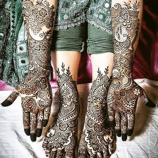 Bridal Mehandi Designs for Hands and Legs 2