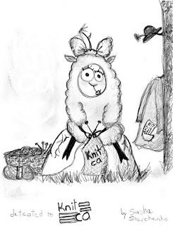 knitca: Cute knitting drawings