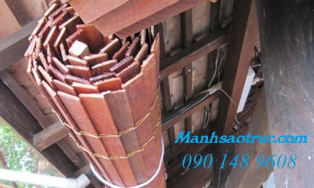 Màn sáo gỗ chống nắng mưa tại hcm